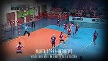Marta Lopez élue meilleure ailière droite (Nuit du Handball 2014)