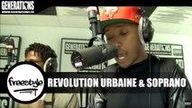 Revolution Urbaine ft Soprano - Freestyle (Live des studios de Generations)