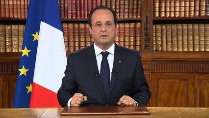 Le président de la République s'adresse aux Français à la suite des élections européennes