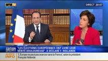 """20H Politique: Allocution de François Hollande: """"Les élections européennes ont livré leur vérité douloureuse"""" - 26/05 1/4"""