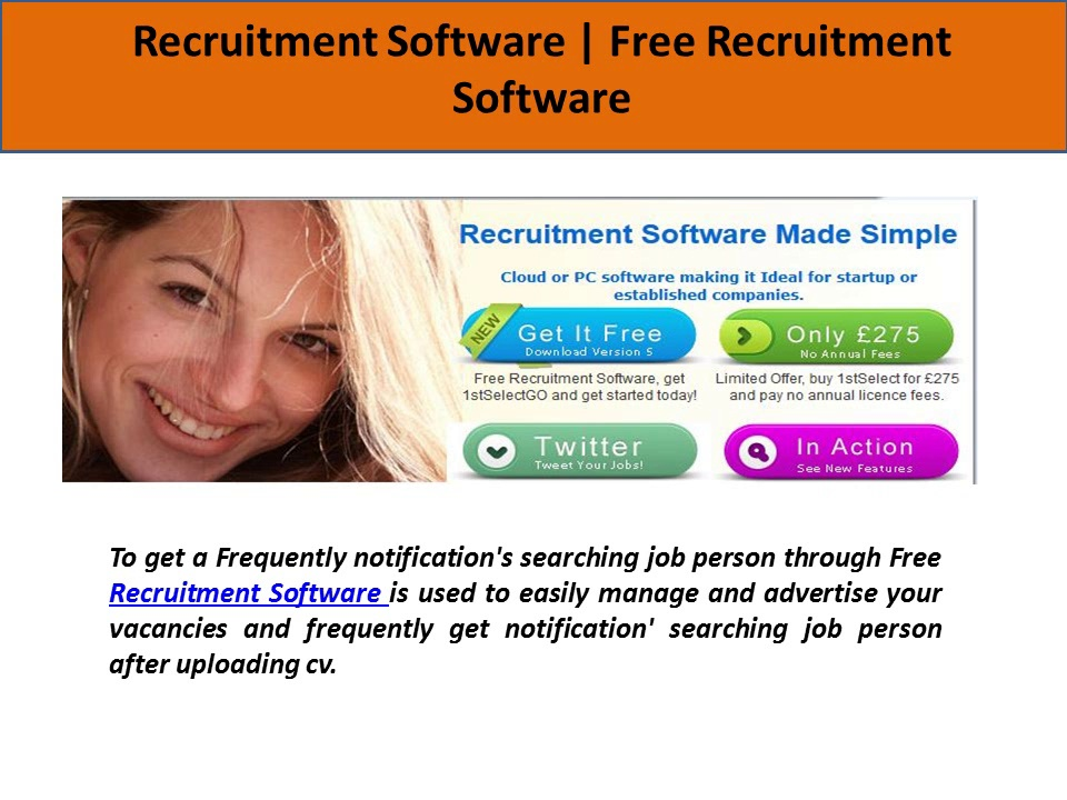 Free Recruitment Software To Manage Vacancies & Searching Suitable Job