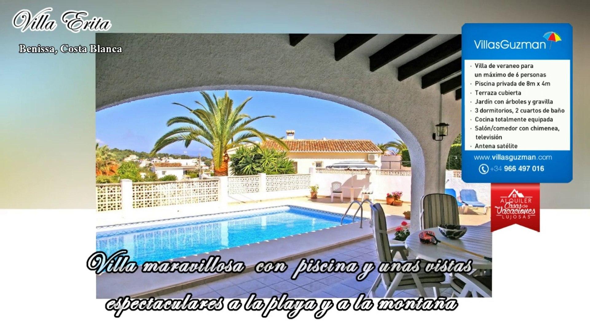 Alquiler Villas Benissa Costa Blanca Villa Erita