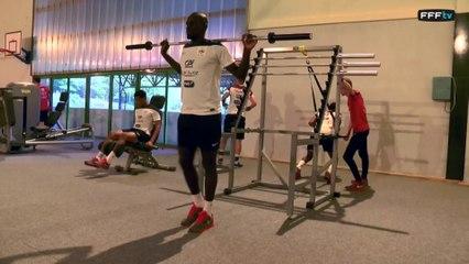 En salle de musculation avec l'Equipe de France