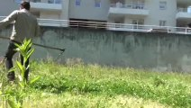 Jardins Partagés du COVET - Fauchage et paillage (15 mai 2014)