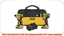 1DEWALT DCK286D2 20V Max XR Lithium Ion Brushless Compact Hammerdrill and Impact Driver Combo
