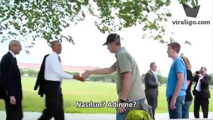 Obama'nın Halkın Arasına Karıştığı Anlar (Türkçe Altyazılı)