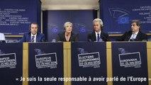 """Le Pen : """"Je suis la seule responsable à avoir parlé de l'Europe"""""""