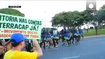 Les grandes villes du Brésil paralysées par une grève à 15 jours de la Coupe du monde