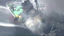 Japon : explosion d'un pétrolier nippon sans cargaison