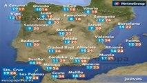 Previsión del tiempo para este jueves 29 de mayo