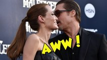 Brad Pitt And Angelina Jolie Romance At Maleficent World Premiere