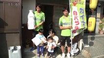 ガイナーレ鳥取の選手 牛乳配達で試合PR