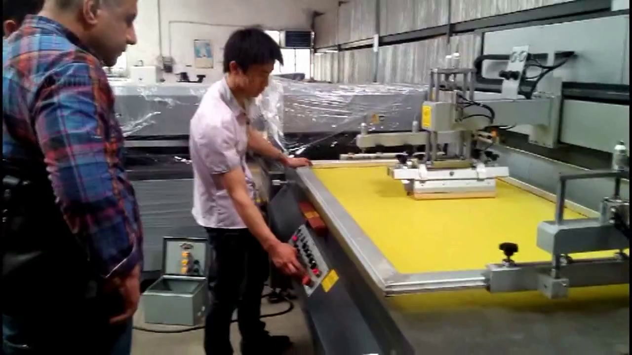 Large Size Flat Bed Screen Printing Machine