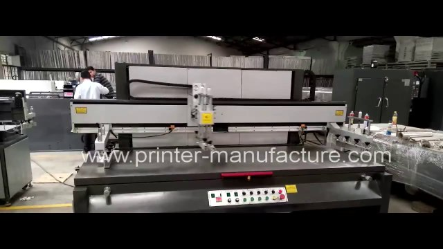 Large Size Flat Bed Screen Printing Machine Large Format Screen Printer