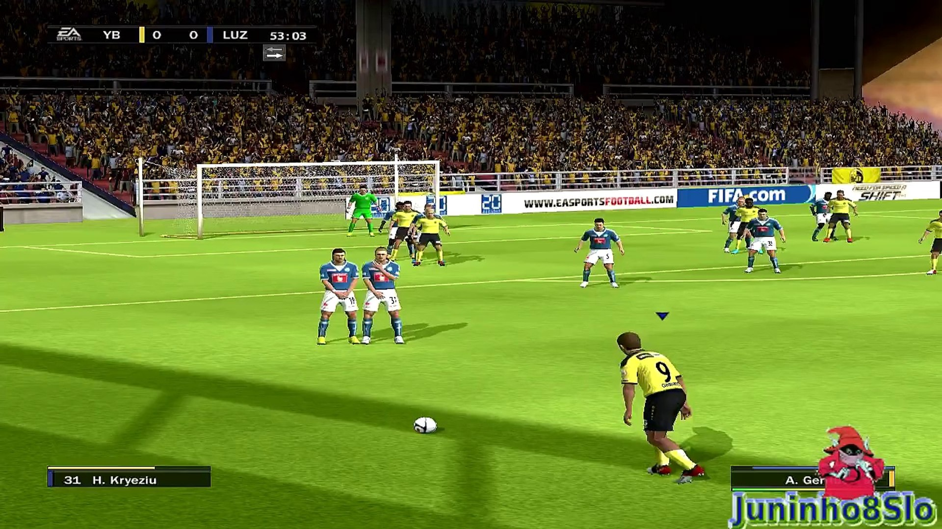 Fifa 10-Manager Mode- BSC Young Boys vs FC Luzern-Game 3