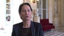 Ségolène Royal fait un point d'étape sur l'avancée des débats de l'examen du projet de loi sur la transition énergétique pour la croissance verte. le vendredi 10 octobre 2014