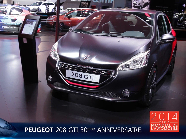 La Peugeot 208 GTi 30th en direct du Mondial Auto 2014