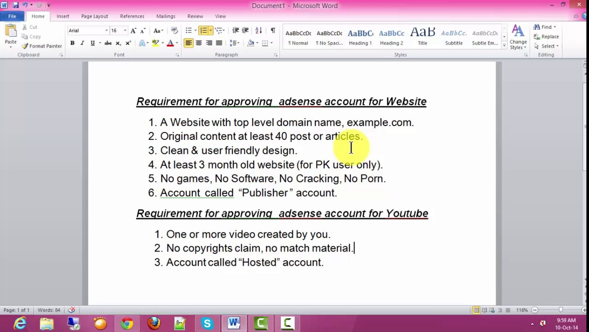How to make google adsense in Urdu/Hindhi part 2