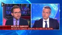 Nicolas Sarkozy en visite au Conseil général des Hauts-de-Seine