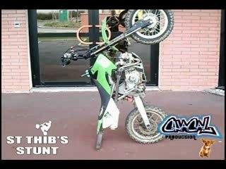 Pitbike début stunt
