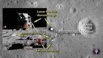 Aquí están los restos del Apollo 11