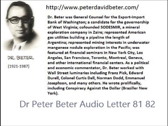 Dr Peter Beter Audio Letter 81-82