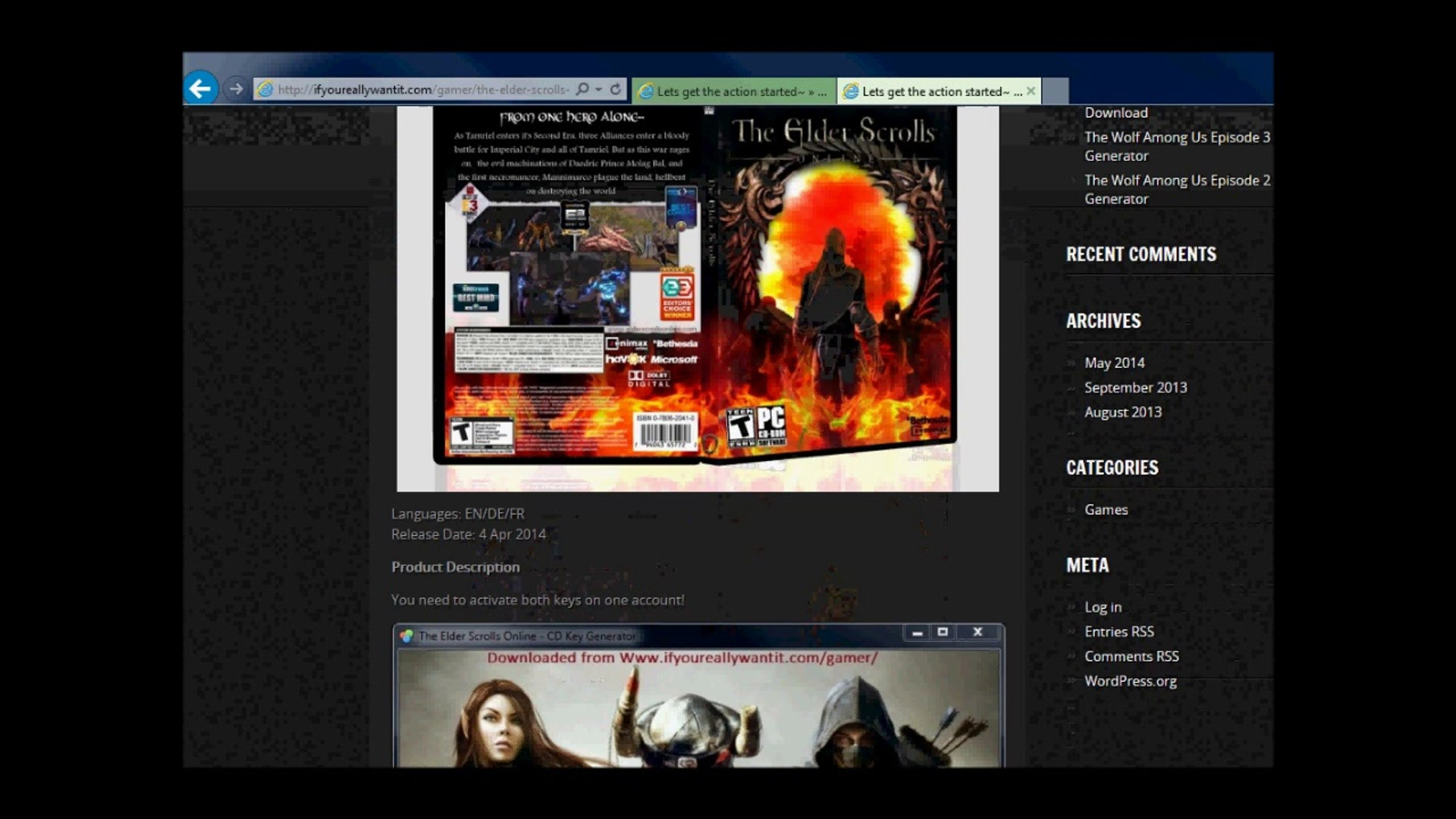 The Elder Scrolls Online UNDetected HACK - CHEAT MOD 2014