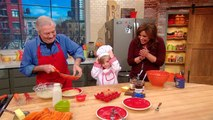 Jacques Pepin and his Superfan in Rachael Ray's Kitchen!