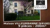 A vendre - maison - VILLEURBANNE (69100) - 9 pièces - 200m²