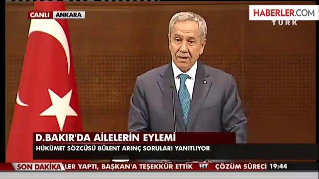 Arınç: Diyarbakır Belediye Başkanı'nı Kınıyorum