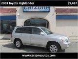 2003 Toyota Highlander Baltimore Maryland | CarZone USA