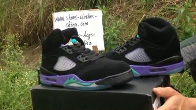 Shop Top Nike Air Jordan V Mens Steel Seal Shoes in Purple Black Review tradingaaa.com