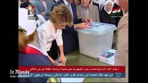 Bachar Al-Assad vote à Damas