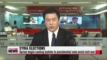 Syrians begin voting in presidential election amid civil war