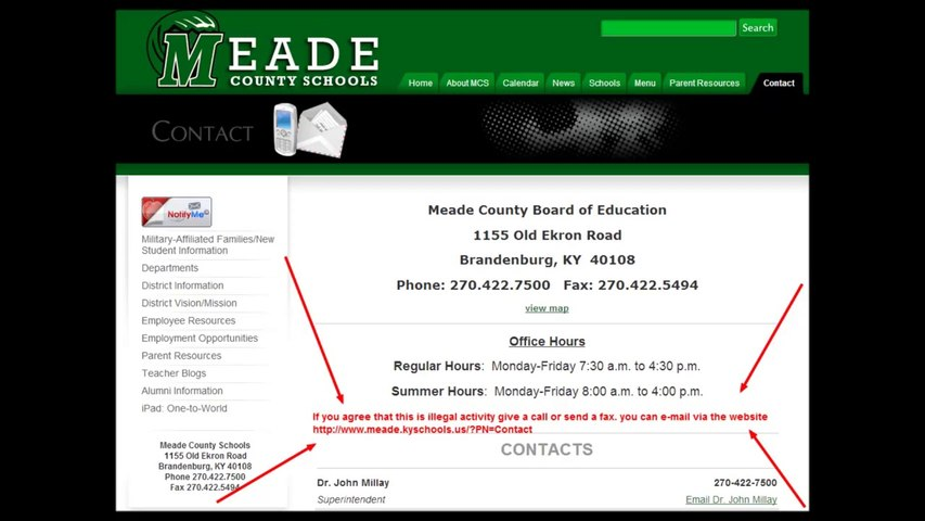 Meade County Kentucky school has monopoly with Apple corp