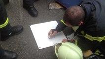 Manœuvre des sapeurs-pompiers