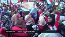 Egypt Celebrations- El-Sissi supporters celebrate his landslide election victory