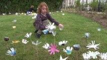 Fleurir son école avec des matériaux de récupération