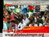Day 1: MQM workers supporters gathered at Numaish Karachi to show solidarity with Mr Altaf Hussain