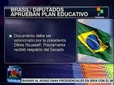 Diputados de Brasil aprueban invertir el 10% del PIB en ecuación