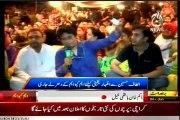 Aaj TV Sawal Hai Pakistan Ka Rizwan Jaffar MQM Workers & Supporters gathered and sit in at Numaish Karachi to show solidarity with QET Altaf Hussain