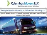 Columbus Moving LLC services in Ohio