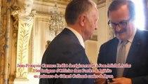 Jean-Michel Aulas reçoit les insignes d'Officier dans l'ordre du Mérite