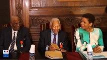 Hommage national aux dissidents - conférence de presse aux Invalides