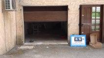 Porte de garage sectionnelle plafond G60 posée par APG Accès Portes de Garage