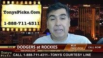Colorado Rockies vs. LA Dodgers Pick Prediction MLB Odds Preview 6-6-2014