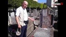 D-Day. il fleurit la tombe d'un soldat français tombé dans l'oubli