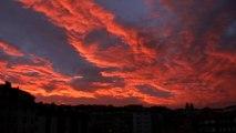 PAISAJE: Puesta de Sol hoy 6 de junio en Candás, Asturias