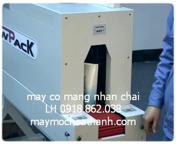 máy co màng nhãn chai , máy rút màng co nhãn chai nước chai mỹ phẩm | Godialy.com