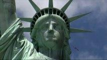 D-Day : un million de pétales de roses lâchés sur la statue de la Liberté